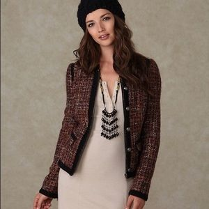 Free People Vintage Tweed Coat